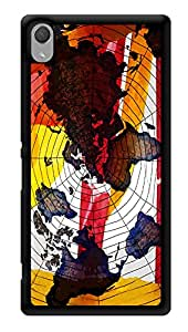 """Humor Gang World Maps Printed Designer Mobile Back Cover For """"Sony Xperia Z3 - Sony Xperia Z3 Plus"""" (3D, Glossy, Premium Quality Snap On Case)"""
