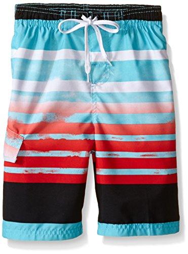 Kanu Surf Little Boys Reflection Swim Trunks, Aqua, Large (7)