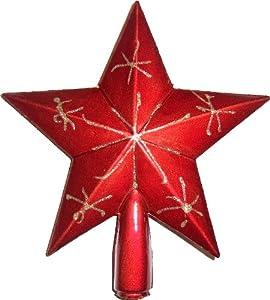 roter weihnachts deko stern christbaumspitze 20 cm. Black Bedroom Furniture Sets. Home Design Ideas