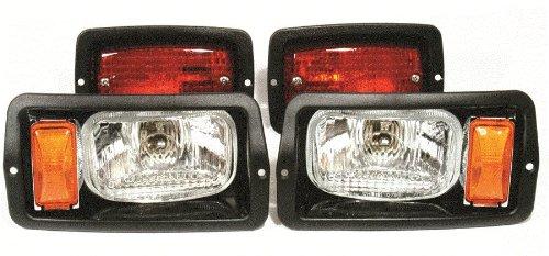 Golf Cart Club Car Ds Headlight And Taillight Kit Black Bezels