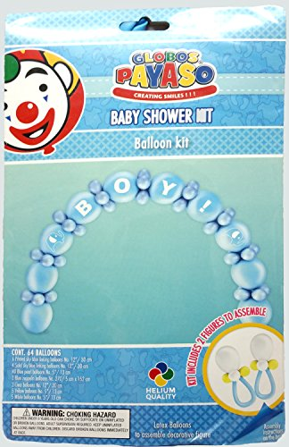 Baby shower boy decoration party balloon kit 64 balloons for Baby boy shower decoration kits