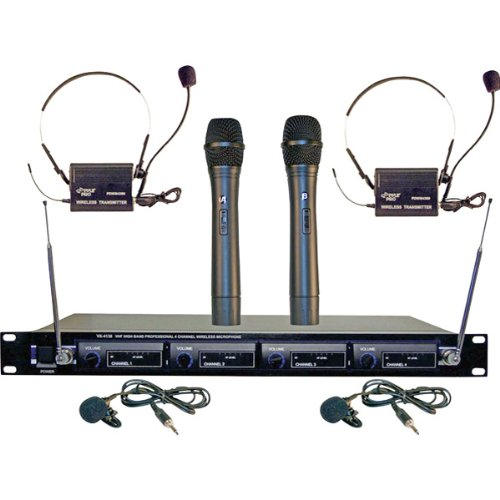 Brand New Pyle 4 Microphone Vhf Wireless System