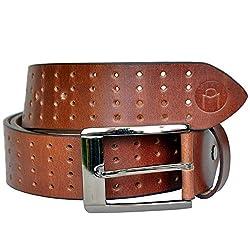 MOSPL Men's Leather Belt (OMBT3017_Brown_34)