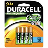 Duracell 4-pk Ni-MH AAA DC2400B4N Rechargeable Batteries