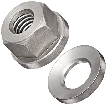 303 Stainless Steel Hex Nut, Plain Finish, Right Hand Threads, Inch, Made in US