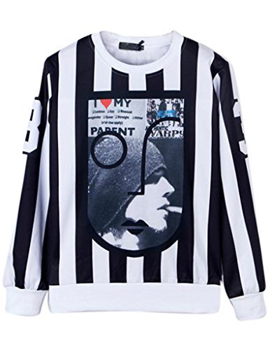 Match Hip Hop Rock Punk Harajuku Style Tee 3D Printing Sweater(Small (Label Large),Lt-118)
