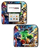 Avengers Captain America Hulk Iron Man Spider Thor Video Game Vinyl Decal Skin Sticker Cover for Nintendo 2DS System Console