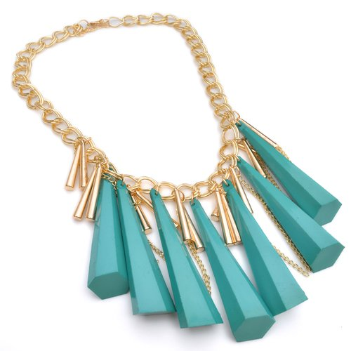 KFashion Schmuck Green Acrylic Damen Chocker Halskette N111