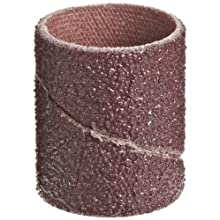 "3M  Cloth Band 341D, 3/4"" Diameter x 1"" Width, 60 Grit, Brown (Pack of 100)"