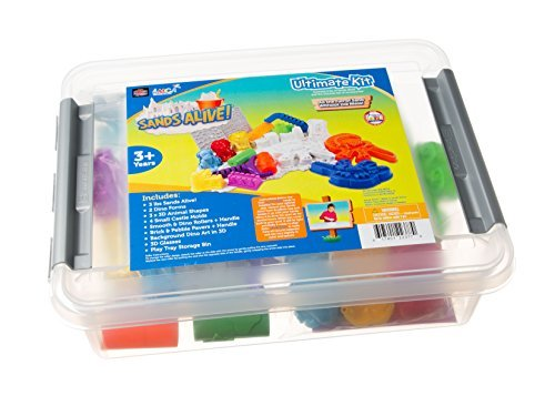 Sands Alive Ultimate Dino and Castle Sand Molds Set - Includes 18 Molds and Play Sand Tray (Squishy Sand Play Tray compare prices)