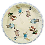 Meri Meri Peter Rabbit 7-Inch Small Plates, 12-Pack