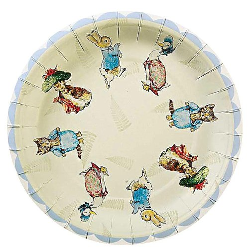 For Sale! Meri Meri Peter Rabbit 7-Inch Small Plates, 12-Pack