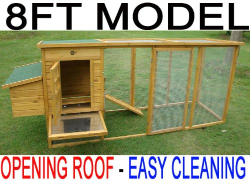 8FT COCOON CHICKEN COOP HEN HOUSE POULTRY ARK NEST BOX NEW - NOW WITH REAR VENT HOLES AND SECURE NEST BOX FLOOR - ONLY SOLD BY SELLER 'COCOON' ON AMAZON NOW WITH OPENING ROOF FOR EASY CLEANING