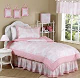 Pink French Toile Children's Bedding 4pc Twin Set by Sweet Jojo Designs thumbnail