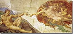 Creation of Adam by Michelangelo Premium Stretched Canvas (Ready-to-Hang)