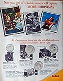 Kodak Camera, 40's Print ad. Full Page Color Illustration (kodak reflex camera $120) Original Vintage 1947 Collier's Magazine Print Art