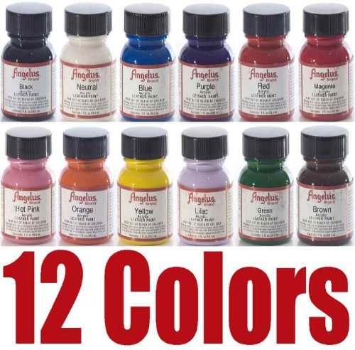 Angelus Acrylic Leather Paint Starter Kit (Shoe Paint compare prices)