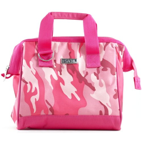 Sachi Pink Camo Insulated Lunch Bag