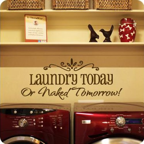 Motto laundry today DIY Removable Art Vinyl Quote Wall Sticker