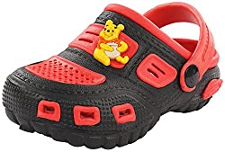 Phonix Unisex Kids Red and Black Synthetic Crocs - 9 UK