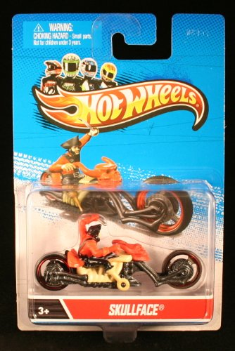 SKULLFACE * MOTORCYCLE & RIDER * Hot Wheels 1:64 Scale 2012 Die-Cast Vehicle
