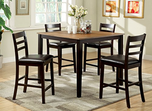 Furniture Of America Tomasi 5 Piece Transitional Pub Dining Set Kitchen Din