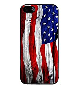 Fuson Premium 2D Back Case Cover Flag design With black Background Degined For Apple iPhone 4::Apple iPhone 4S