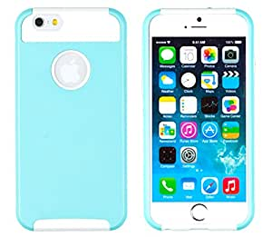 "iPhone 6 Case, DandyCase 2in1 DUAL LAYER HYBRID Shock-Protector Slim Case Cover for Apple iPhone 6 (4.7"" screen) - LIFETIME WARRANTY (Turquoise & White)"