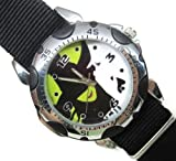 New Fashion WSP41 Rotating Bezel Sporty Wrist Watch + Nylon Strap - Wicked The Musical