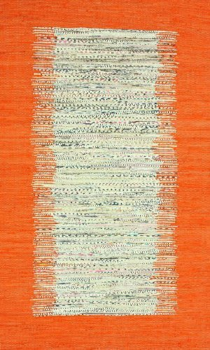 nuLOOM NEMA4G Madison Collection Contemporary Hand Made Area Rug, 8-Feet by 10-Feet, Orange