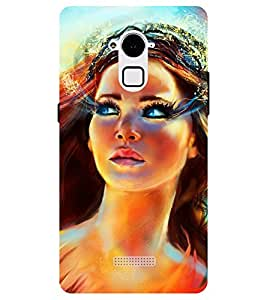 Chiraiyaa Designer Printed Premium Back Cover Case for Coolpad Note 3 Plus (painting women beautiful) (Multicolor)