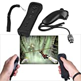 Black Remote + Nunchuk Game Controller for Nintendo Wii