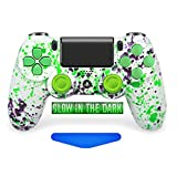 Alien Blood PS4 PRO Rapid Fire Custom Modded Controller 40 Mods (Glow in The Dark) (CUH-ZCT2U) . (Color: white)