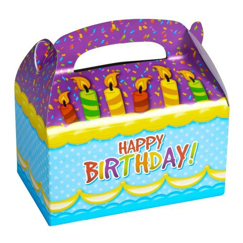 "1 Dozen 6.25"" Happy Birthday Treat Boxes"