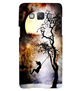 ColourCraft Scary Night Design Back Case Cover for SAMSUNG GALAXY A7