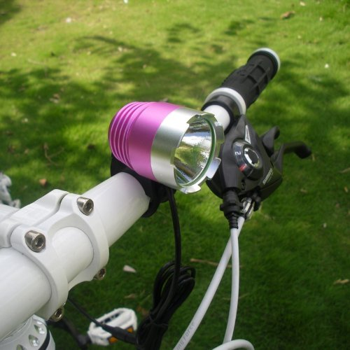 CREE XML XM-L T6 1200LM LED Bike Bicycle Light HeadLight HeadLamp Pink+Silver