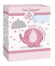 Large Pink Elephant Baby Shower Gift Bag