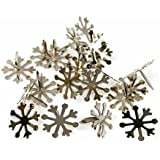 Package of Metal Snowflake Brad Embellishments 19mm in Size- Package of 96