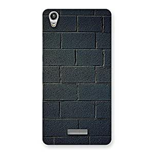 Enticing Black Brick Wall Back Case Cover for Lava-Pixel-V1