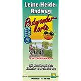 Radwanderkarte Leine-Heide-Radweg: mit Ausflugszielen, Einkehr- & Freizeittipps, wetterfest, reissfest, abwischbar, GPS-genau. 1:50000