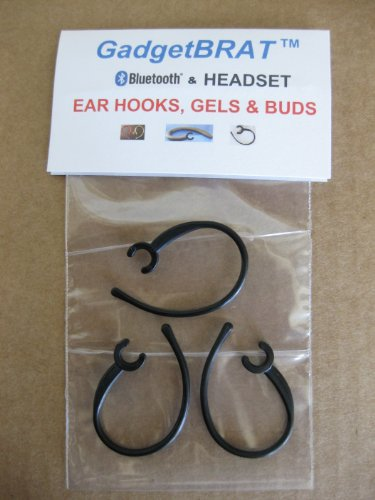 3 Bluetooth Ear Hook Clips Loop (B) Will-not-break. Exclusive Material & Design. Branded Package. Made in USA By Gadgetbrat (Trademark). Heavy-duty, Comfortable, Durable. Verify Model Number in Description Please.