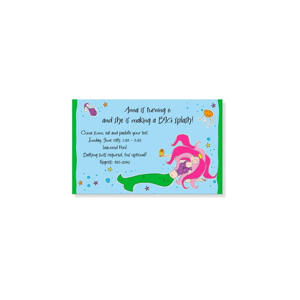 Childrens Birthday Party Invitations   Under the Sea Invitation