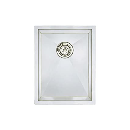 Blanco 516208 Precision Vertical Orientation 16-Inch Medium Bowl Undermount Sink, Stainless Steel