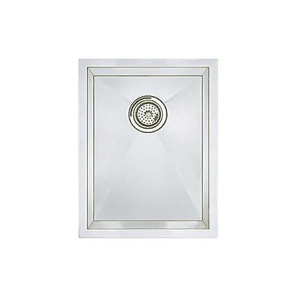 Blanco 516208 Precision Vertical Orientation 16-Inch Medium Bowl Undermount Sink, Stainless Steel