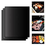 BBQ Grill Mats by Giantrock, Set of 3 BBQ Grilling Mats, BBQ Grilling Accessories, Sheets for Gas Grills, 15.8 x 13 Inch