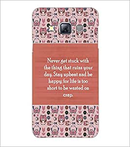 PrintDhaba Quote D-5724 Back Case Cover for SAMSUNG GALAXY A3 (Multi-Coloured)