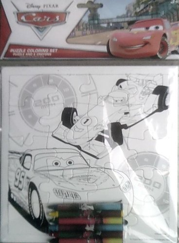 Disney Pixar Cars Coloring Jigsaw Puzzle - Color It In - Comes with 6 Crayons