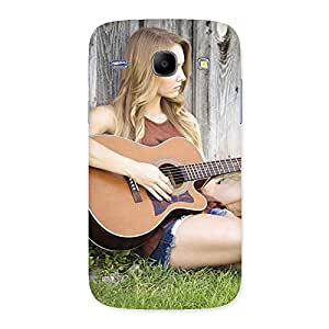 Premium Girl Guitar Back Case Cover for Galaxy Core