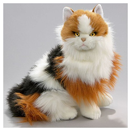 Katze sitzend Calico aus Plüsch ca. 35cm von