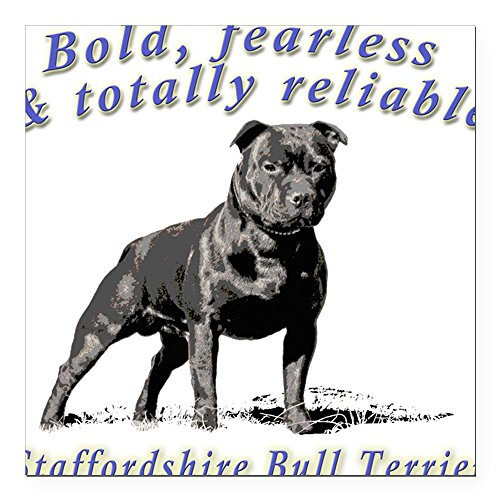 CafePress Square Car Magnet - Bold, Fearless & Totally Reliable Square Car M - 3x3 White